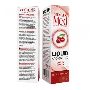 Adrien Lastic Гель Liquid Vibrator CHERRY ( 30ml ) С Эффектом Вибрации