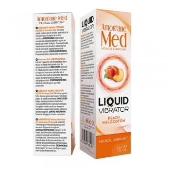 Adrien Lastic Гель Liquid Vibrator PEACH ( 30ml ) С Эффектом Вибрации