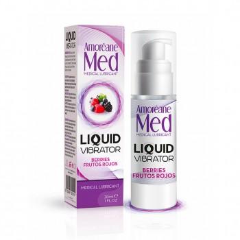 Adrien Lastic Гель Liquid Vibrator Berries ( 30ml ) С Эффектом Вибрации