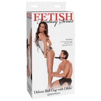 KNEBEL Deluxe Ball Gag with Dildo