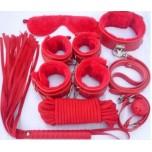 БДСМ набор из 8-ми предметов красный