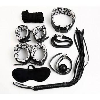 БДСМ набор из 8-ми предметов снежный леопард