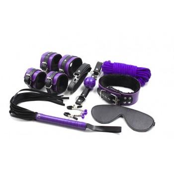 БДСМ набор из 9-ми предметов фиолетовы