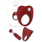 Вибрирующее кольцо OVO B11 Красный