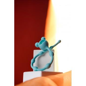 Анальная цепочка 100% силикон, цвет мятный 27,4 см, Ø 1,4 см