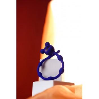 Анальная цепочка 100% силикон, цвет синий 27,4 см, Ø 1,4 смм