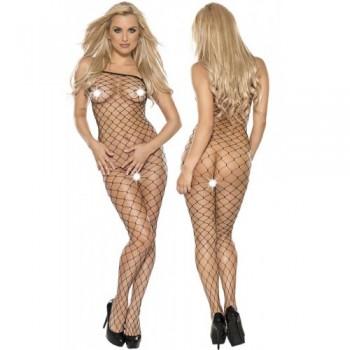 Fishnet catsuit S-M/black