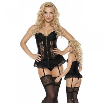 Suspendertop & String S/Black
