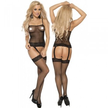 Fishnet Bodystockings L-XL/Black