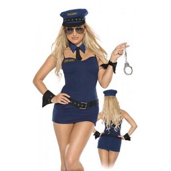 Policewoman uniform XL/Blue