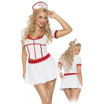 Nurse Costume XXL/White Roxana