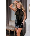 Платье Chyna c прозрачным бюстом черное OS
