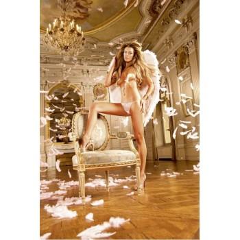 Angel Трусики женские L, белый/розовый