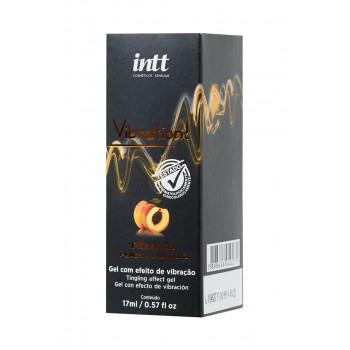 Жидкий массажный гель INTT VIBRATION Peach с эффектом вибрации и ароматом персика, 17 мл Бразилия