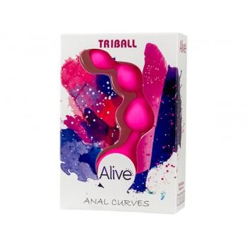 Adrien Lastic Анальная цепочка из силикона TRIBALL Pink