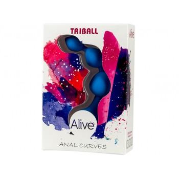 Adrien Lastic Анальная цепочка из силикона TRIBALL Azul
